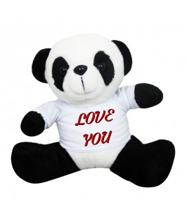 Peluches Panda con t-shirt personalizzabile