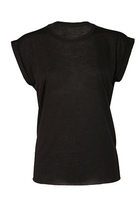 T-shirt donna manica con risvolto Flowy Muscle