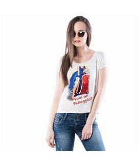 """T-shirt """"VUOI UN PASSAGGIO in VESPA?"""""""
