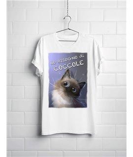 """T-shirt """"HO BISOGNO DI COCCOLE"""""""