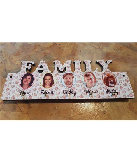"""Pannello portachiavi """"FAMILY"""" Personalizzabile"""