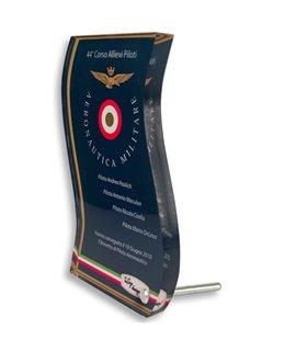 Plexiglass da premiazione ONDA Personalizzabile con piedistallo