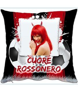 Cuscino Squadra del Cuore Rosso/Nero