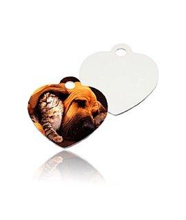Medaglietta CUORE per Cani in alluminio Personalizzabile