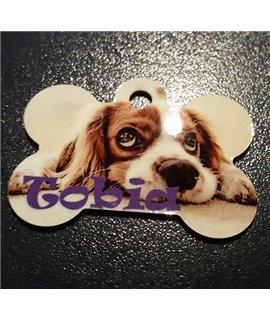 Medaglietta OSSO per Cani in alluminio Personalizzabile