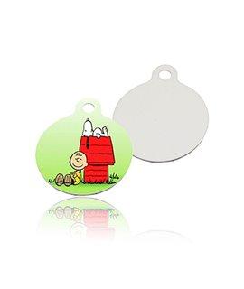 Medaglietta ROTONDA per Cani in alluminio Personalizzabile
