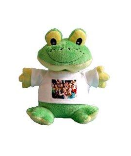 Peluches Rana con t-shirt personalizzabile