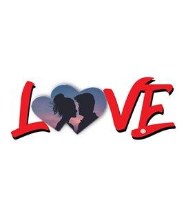 """Scritta """"LOVE""""  in MDF Personalizzabile"""