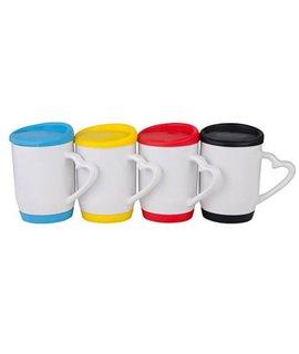 Tazza in ceramica Personalizzabile con tappo in silicone colorato