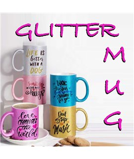 Tazza Glitter Personalizzabile da 330 ml